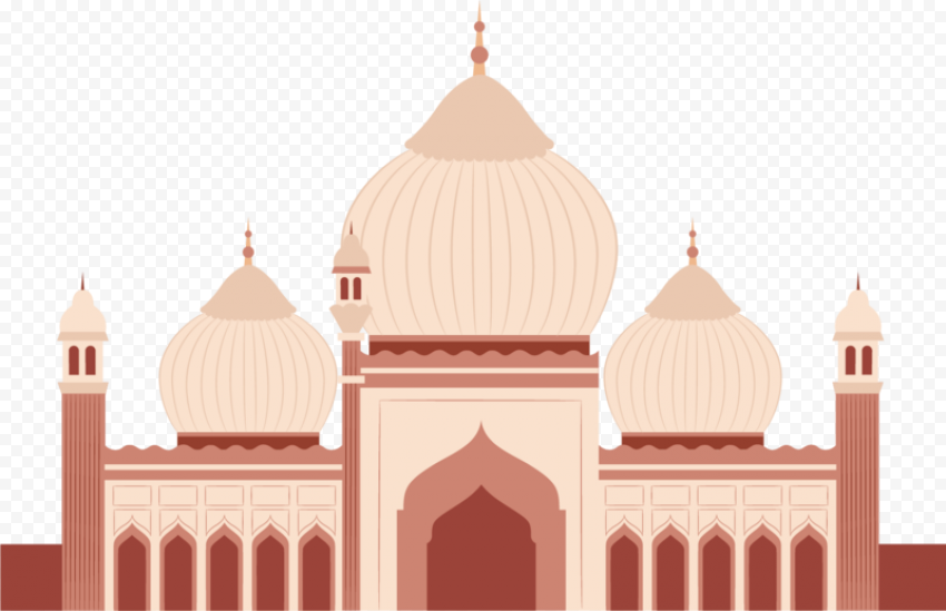 Cartoon Vector Islam Mosque Illustration Icon