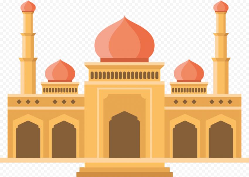 Masjid Mosque Vector Islamic Cartoon Illustration
