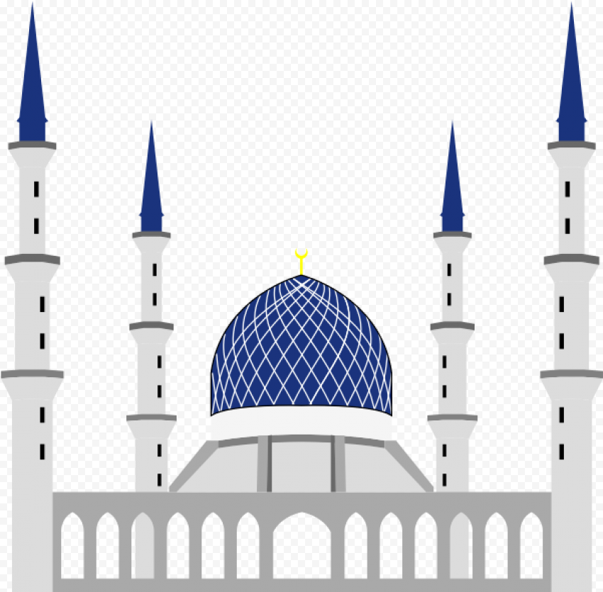 Sultan Abdul Aziz Vector Mosque Illustration