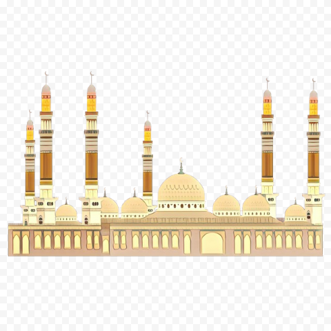 Muslim Ramadan Mosque Masjid Vector Illustration
