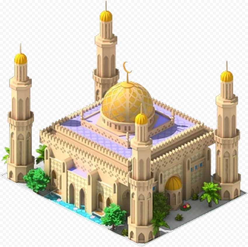 3D Isometric Sultan Qaboos Grand Mosque