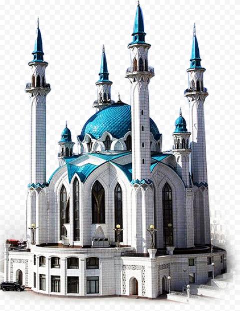 Blue Masjid Russia Mosque Islamic Ramadan