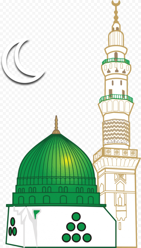 Mosque Masjid Islamic Icon Vector Illustration