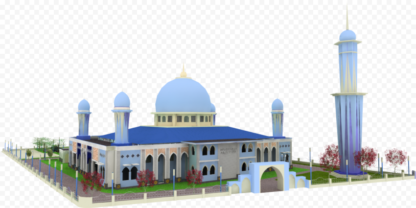 3D Model Arabic Islamic Mosque Masjid