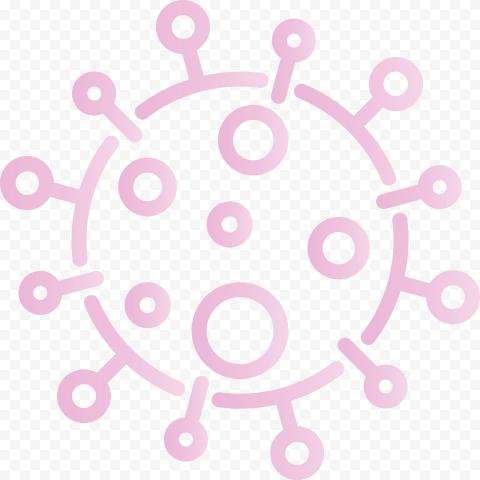 Pink Outline Vector Coronavirus Covid19 Shape Icon
