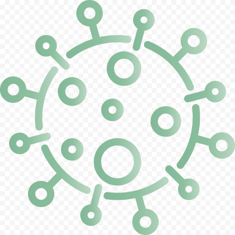 Green Outline Vector Coronavirus Covid 19 Shape