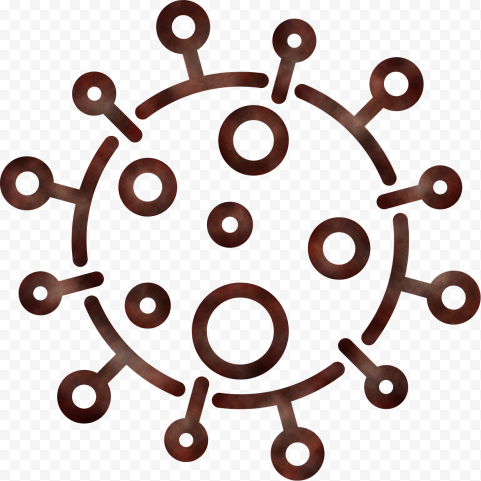 Brown Outline Symbol Vector Corona Covid 19 Shape