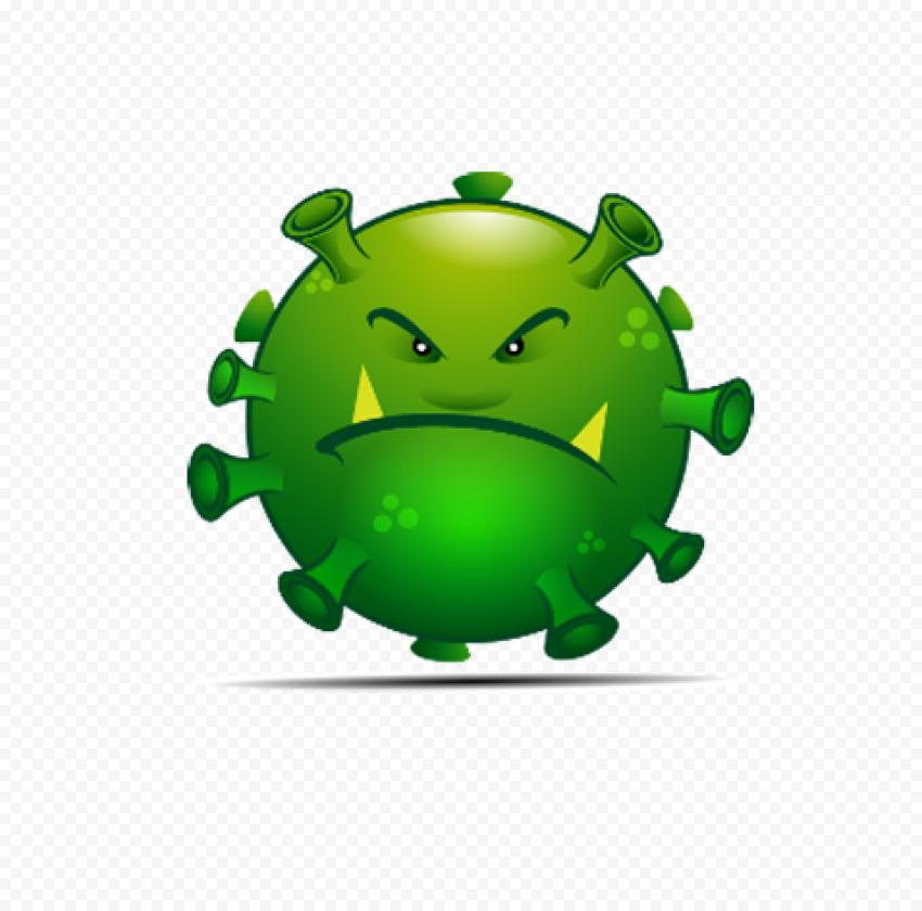 Covid19 Cartoon Emoji Angry Face Illustration