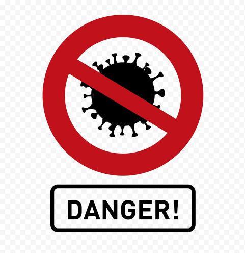 Fight Coronavirus Danger Sign Icon Vector