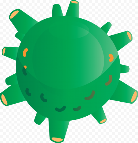 Covid 2019 Coronavirus Shape Cartoon Icon