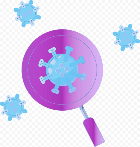 Magnifying Glass Coronavirus Covid19 Icon Germs
