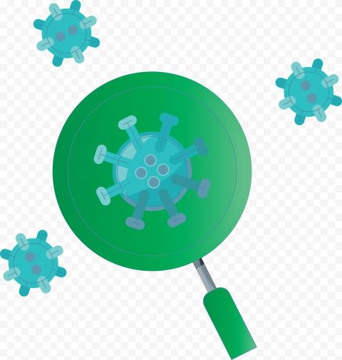 Magnifier Glass Virus Covid19 Icon Germs Vector