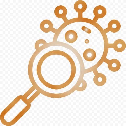 Magnifier Glass Search Coronavirus Covid19 Icon