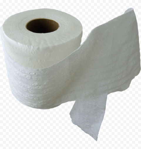 White Wc Toilet Paper Roll Tissue Isolated