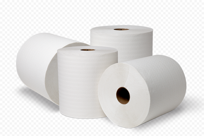 Group Of White Wc Toilet Paper Roll