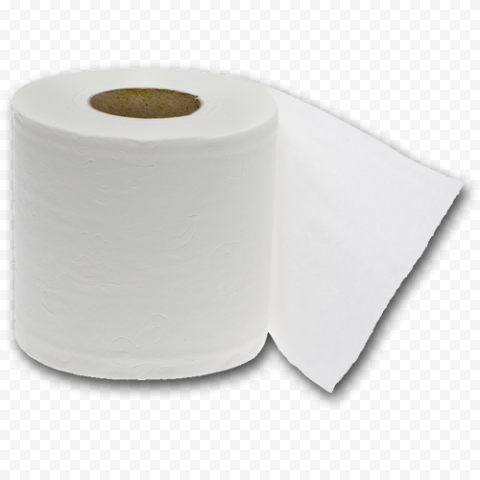 White Wc Toilet Paper Roll Object No Background