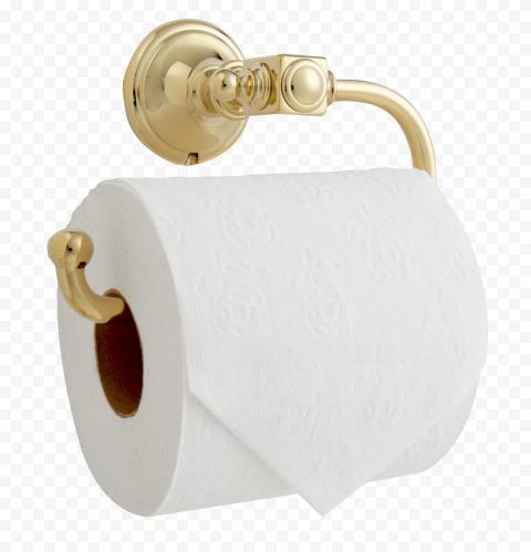 Hanging Paper Roll Toilet Bathroom Gold Holder