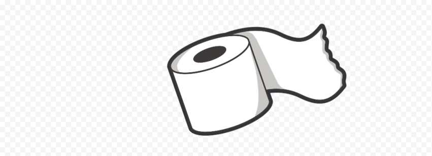 Cartoon Wc Toilet Bathroom Paper Roll Icon Clipart