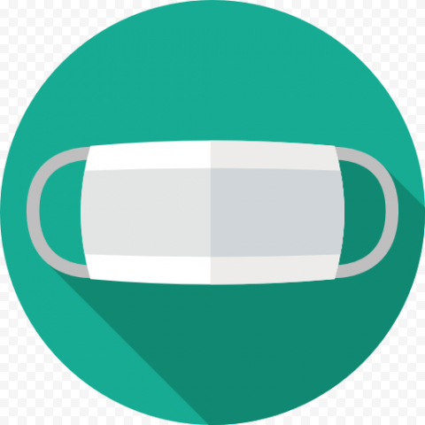Round Flat Surgical Antivirus Doctor Mask Vector