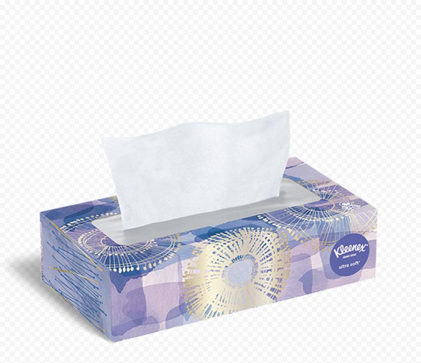 Handkerchief Kleenex Facial Tissues Paper Box