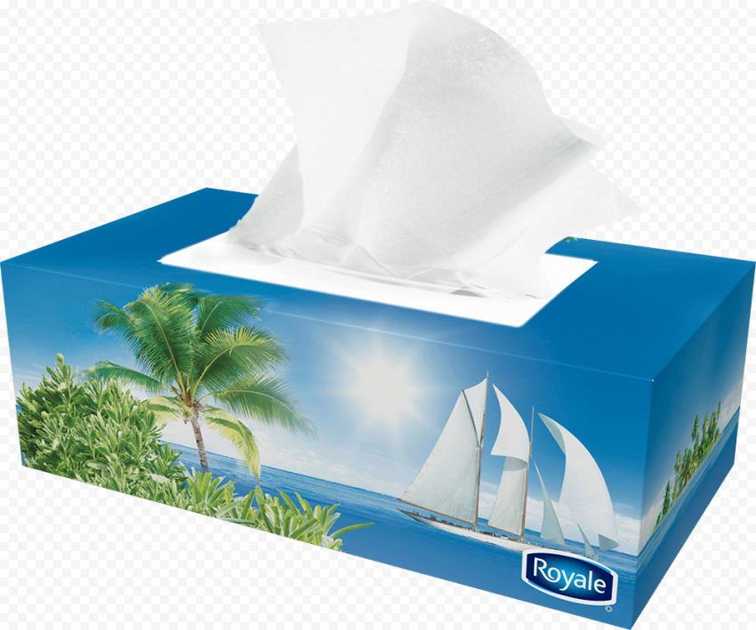 Handkerchief Royal Facial Tissue Hygiene Paper Box