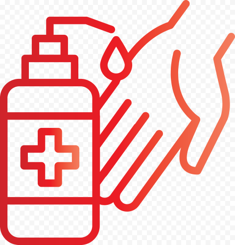 Hand Sanitizer Cleaning Bacteria Coronavirus Icon