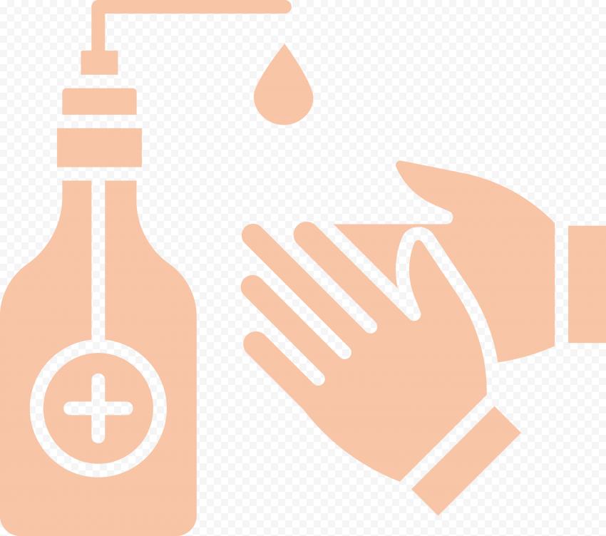 Hand Sanitizer Hygiene Bacteria Coronavirus Icon