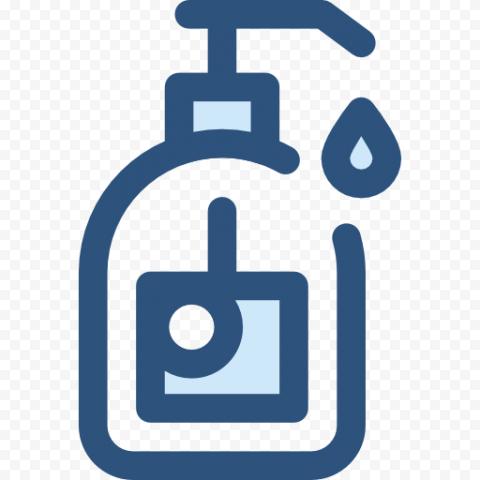 Blue Hand Liquid Antibacterial Virus Vector Icon