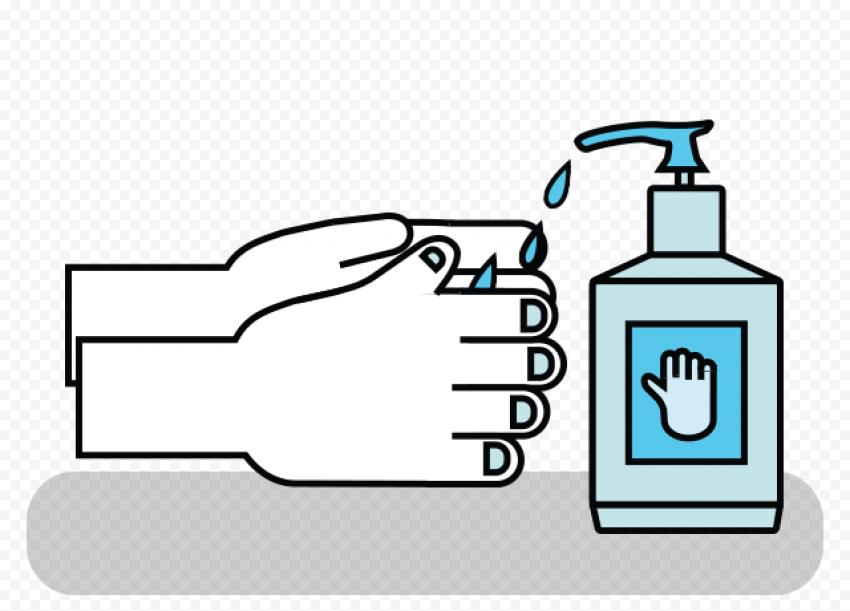Hand Use Liquid Antibacterial Virus Vector Icon