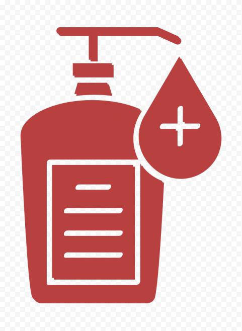 Hand Sanitizer Antibacterial Gel Virus Vector Icon