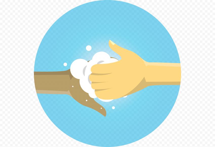 Coronavirus Hand Wash Soap Water Clipart Icon