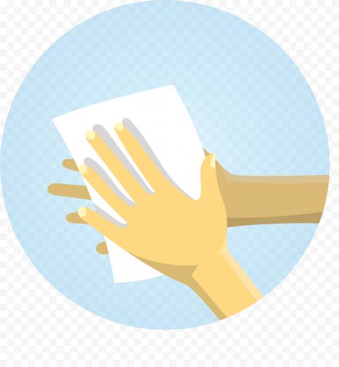 Coronavirus Hands Cleaning Sanitizer Clipart Icon
