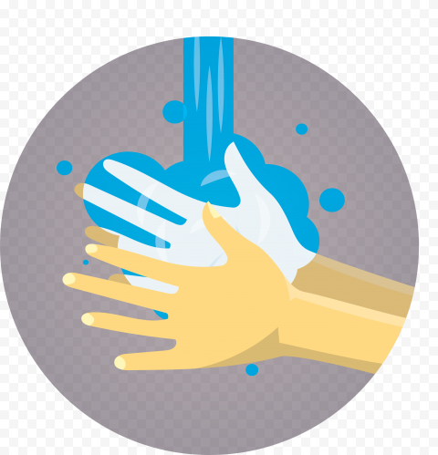 Wash Hand Water Soap Cartoon Clipart Icon
