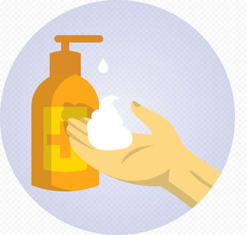 Hand Liquid Sanitizer Gel Covid19 Clipart Icon