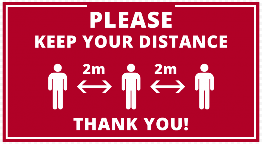 Please Keep Your Distance 2M Pandemic Free Signage