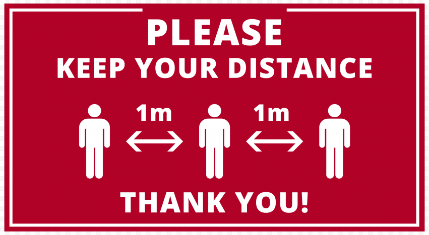 Please Keep Your Distance 1M Pandemic Free Signage
