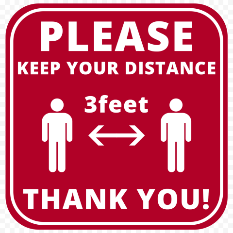 Printable Please Keep Your Distanc 3feet Free Sign