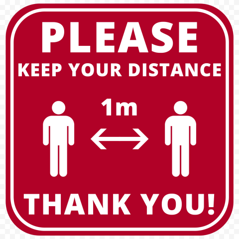 Covid19 Please Keep Your Distance 1M Free Sign