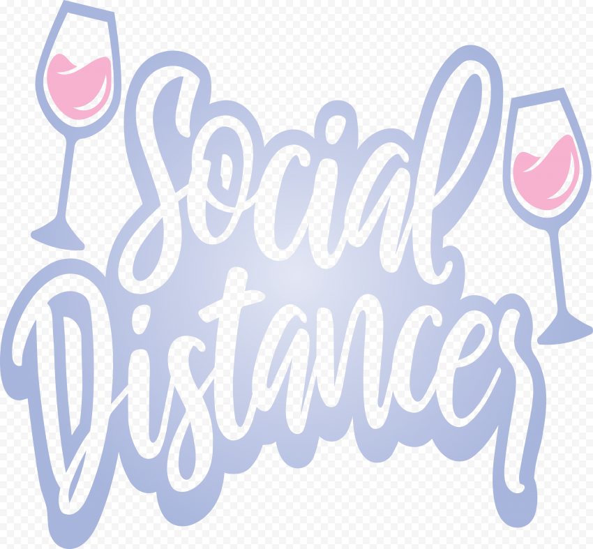 Social Distancing Logo Safety Icon Vector