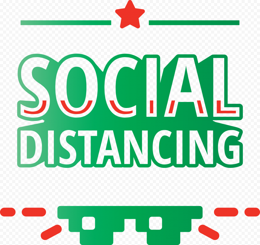 Pandemic Social Distancing Logo Safety Icon Vector