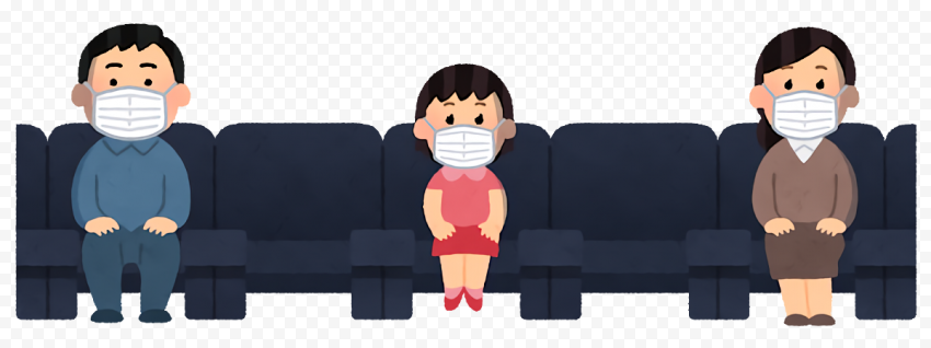Sit Down Persons Social Distance Cartoon Icon Citypng