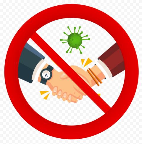 No Handshake Covid Safety Corona Icon Vector