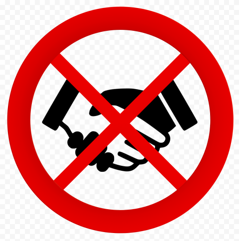 No Hand Shake Covid 19 Safety Icon Vector
