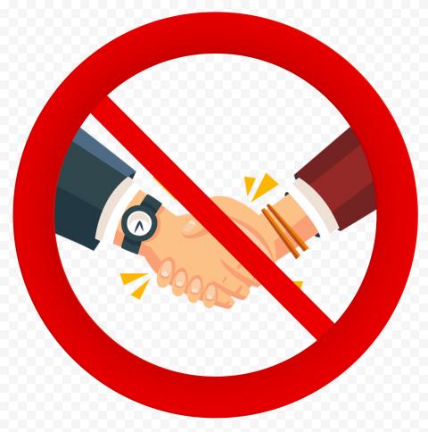 No Handshaking Covid 19 Safety Icon Illustration