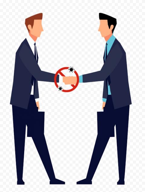 Businessmen No Handshake Coronavirus Icon Vector