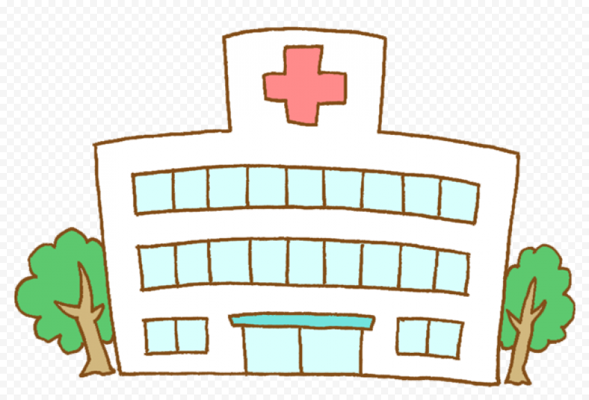Cartoon Hospital Emergency Health Care Clipart