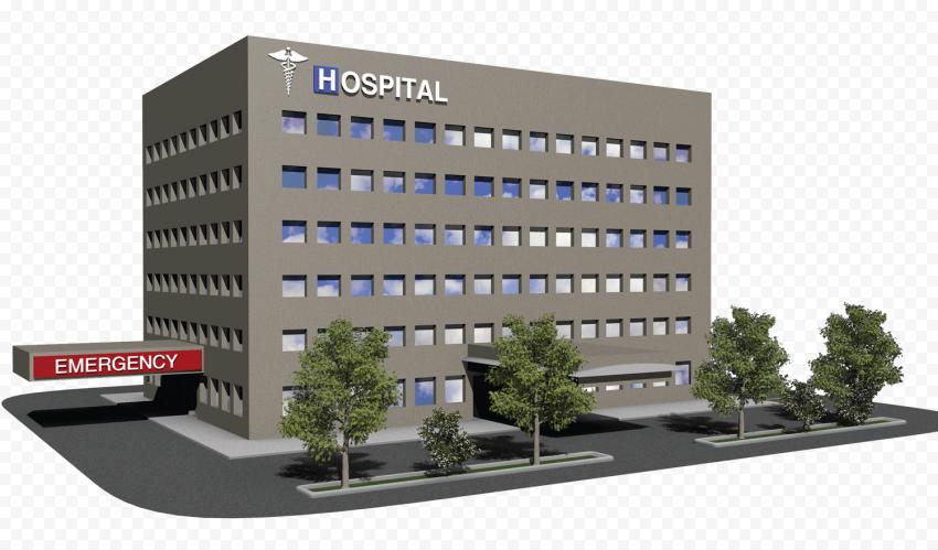 3D Hospital Emergency Health Care Illustration