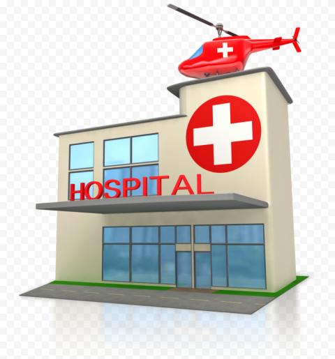 3D Hospital Emergency Helicopter Illustration