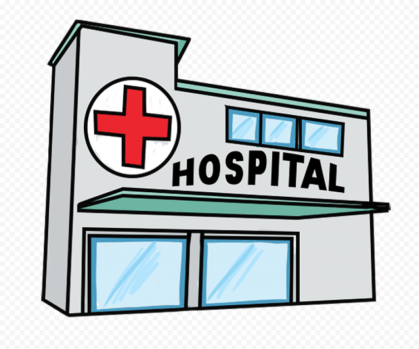 3D Hospital Clinic Health Care Drawing Icon
