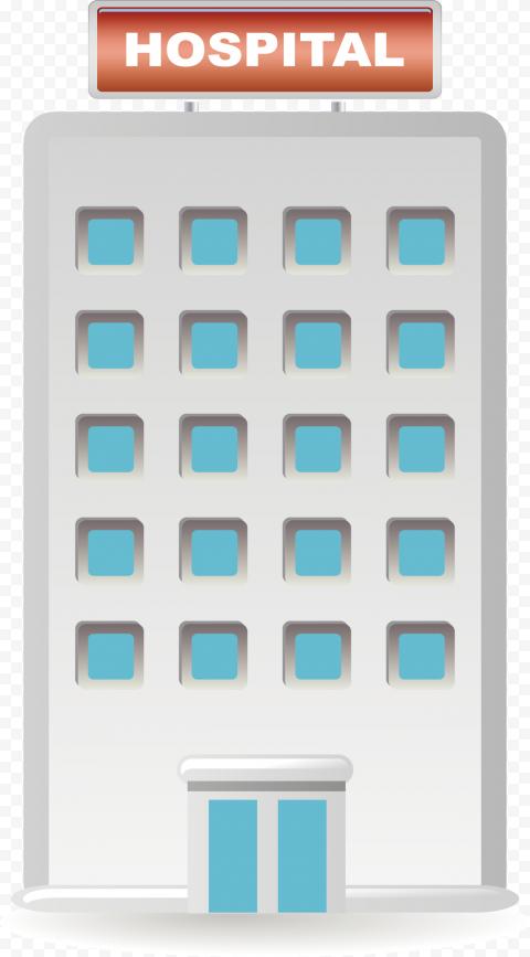 Hospital Clinic Healthcare Vector Icon Clipart